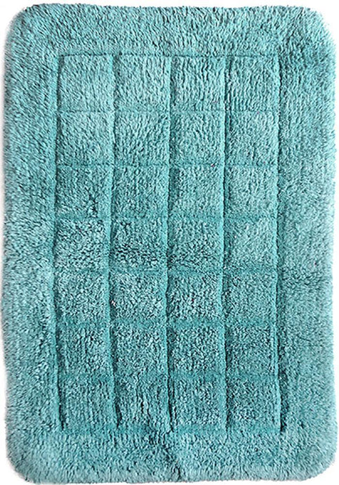 Cotton Bath Mat Aqua-Bath Mat-Rugs 4 Less
