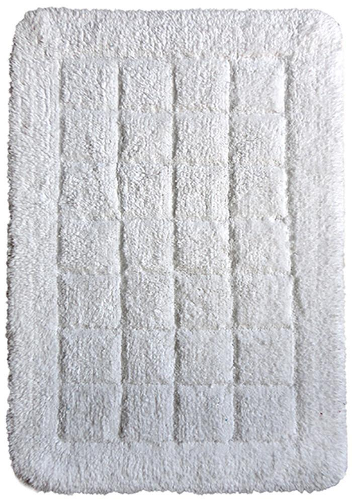 Cotton Bath Mat White-Bath Mat-Rugs 4 Less