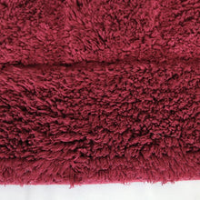 Cotton Bath Mat Red-Bath Mat-Rugs 4 Less