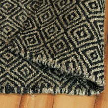 Chalet Rug Diamonds Black/Beige 160x230cm-Wool Rug-Rugs 4 Less