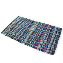 Chindi Blue Large Mat 60x90cm-Eco Mat-Rugs 4 Less