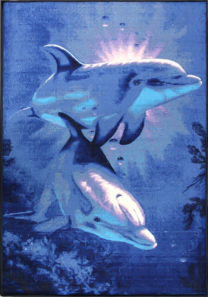 Animal Large Rug Dolphin 140x190cm-Animal Rug-Rugs 4 Less