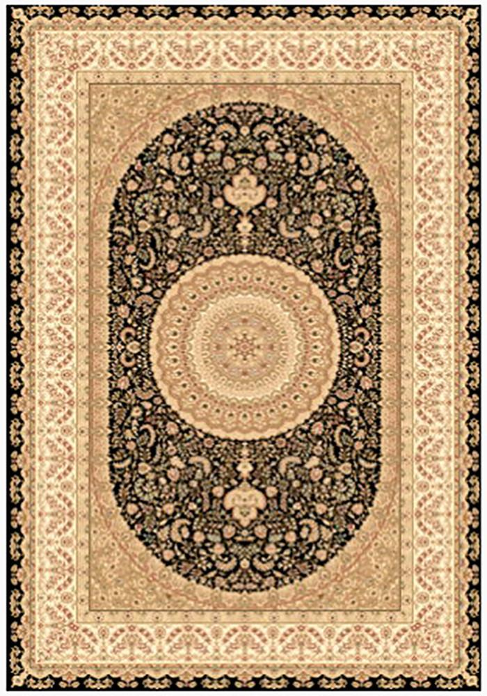 Elegance 1340 Black Small Traditional Rug 120x170cm-Small Traditional Rug-Rugs 4 Less