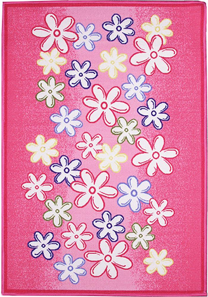 Pink Flowers Kids Rug 90x130cm-Kids Rug-Rugs 4 Less