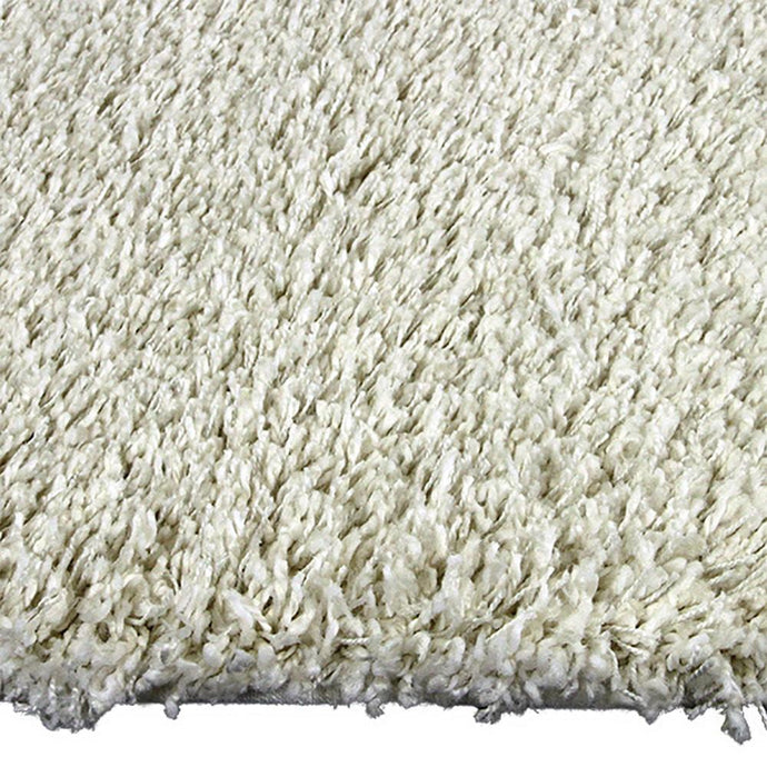 Luxus Cream Large Shag Mat 80x130cm-Large Shag Mat-Rugs 4 Less
