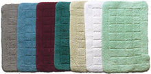 Cotton Bath Mat Light Green-Bath Mat-Rugs 4 Less