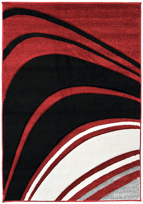 Monte-Carlo 4341A Red Large Mat 80x130cm-Large Modern Mat-Rugs 4 Less