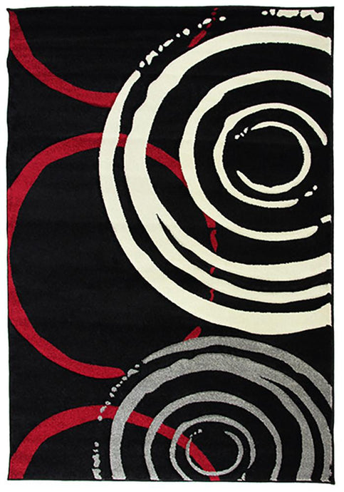 Monte-Carlo 7687A Black Large Mat 80x130cm-Large Modern Mat-Rugs 4 Less
