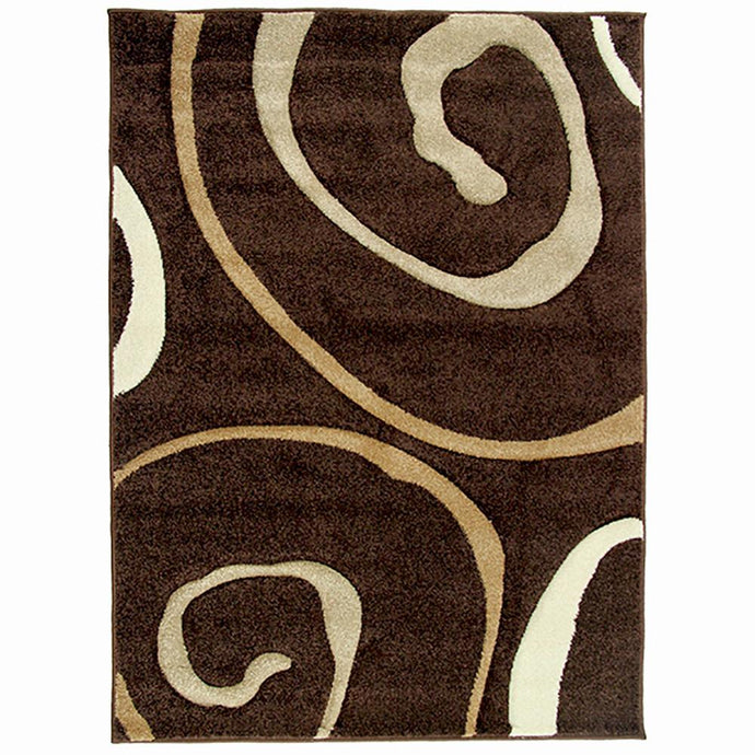 Monte-Carlo 8590A D-Brown-FD Large Mat 80x130cm-Large Modern Mat-Rugs 4 Less