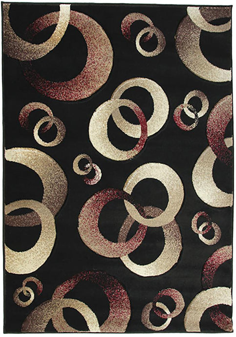 Motion 8222 Black Large Mat 80x130cm-Large Modern Mat-Rugs 4 Less