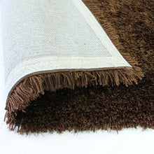 Pluto Brown Small Shag Rug 110x160cm-Small Shag Rug-Rugs 4 Less