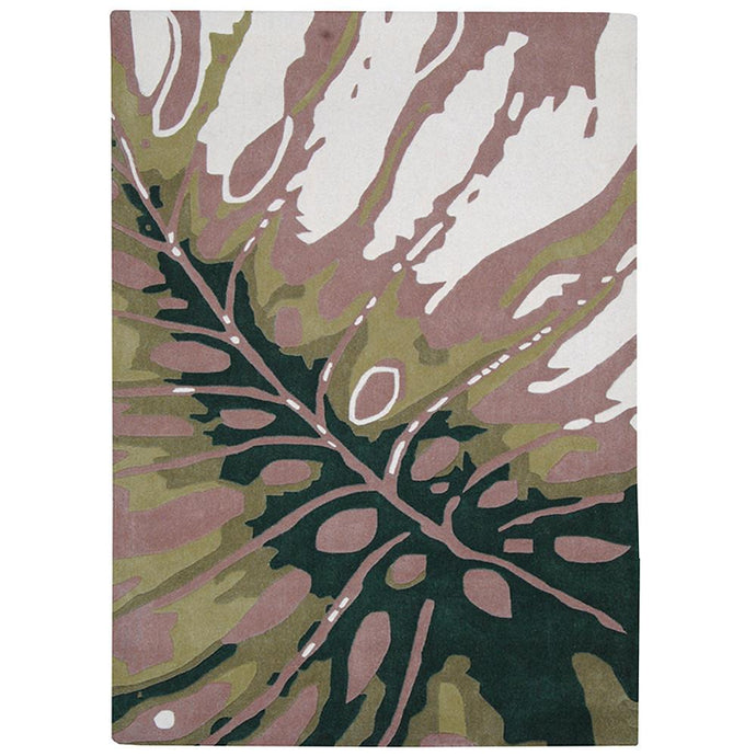 Province Wool Rug Leaves 160x230cm-Wool Rug-Rugs 4 Less