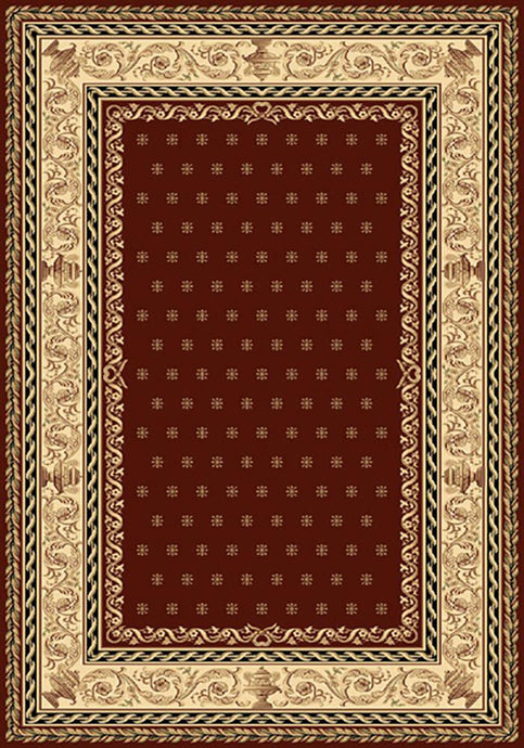 Residence 9674 Red Traditional Rug 160x230cm-Traditional Rug-Rugs 4 Less