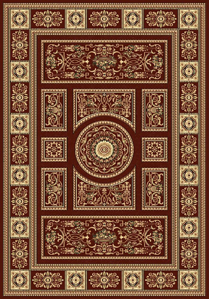 Residence 9706 Red Traditional Rug 160x230cm-Traditional Rug-Rugs 4 Less