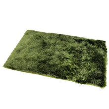 Satin Green Shag Mat 55x85cm-Shag Mat-Rugs 4 Less