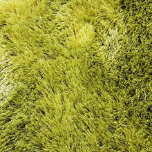 Satin Lime Green Shag Mat 55x85cm-Shag Mat-Rugs 4 Less