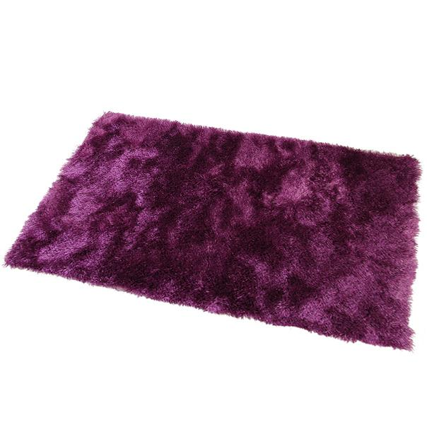 Satin Purple Shag Mat 55x85cm-Shag Mat-Rugs 4 Less