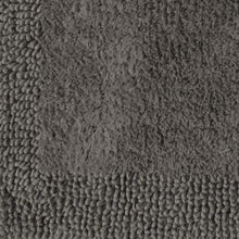 Border Cotton Bath Mat Charcoal-Bath Mat-Rugs 4 Less