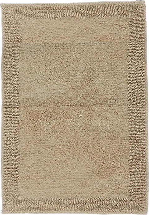 Border Cotton Bath Mat Mink-Bath Mat-Rugs 4 Less