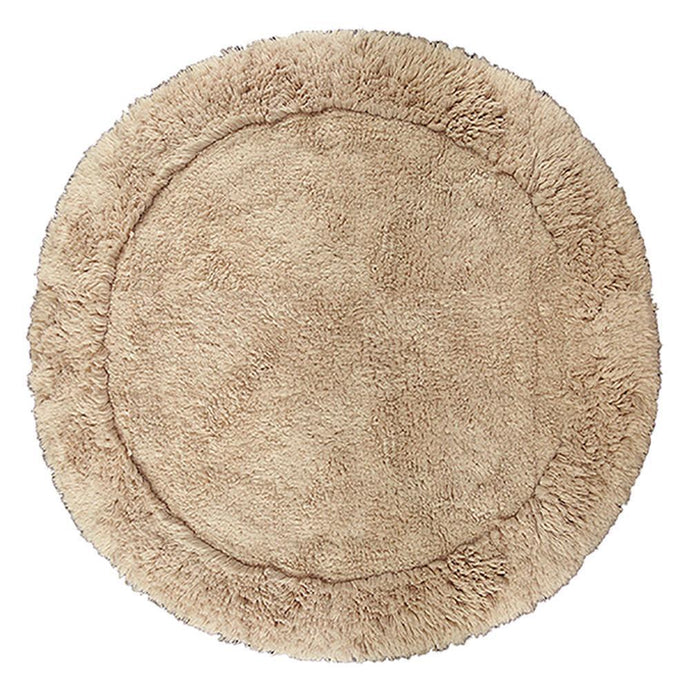 Cotton Round Bath Mat Mink-Round Bath Mat-Rugs 4 Less