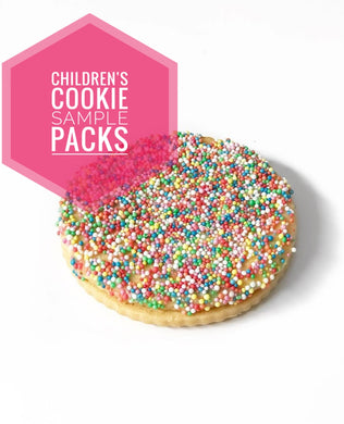 Children's cookie sample packs