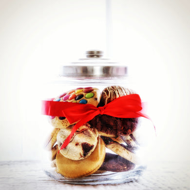Jumbo Christmas Jars packed full of our Cafe style cookie range