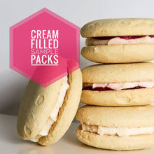 Cream filled cookie sample packs