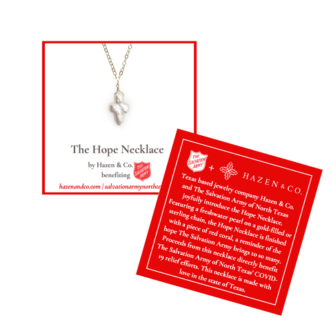 The Hope Necklace on the information card