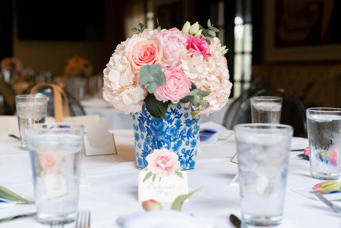 Park Cities Petals Arrangement, Bistro 31, Taylor Turner Wedding