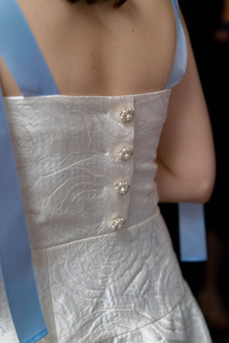 Jane Summers Dress, Pearl detail buttons Taylor Turner wedding