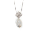 Alicia Necklace, Silver with Baroque Pearl Charm