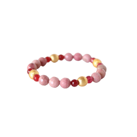 Blossom Bracelet, Pink and Cranberry
