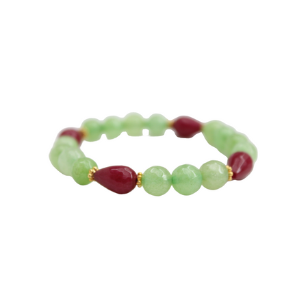 Blossom Bracelet, Green and Mulberry