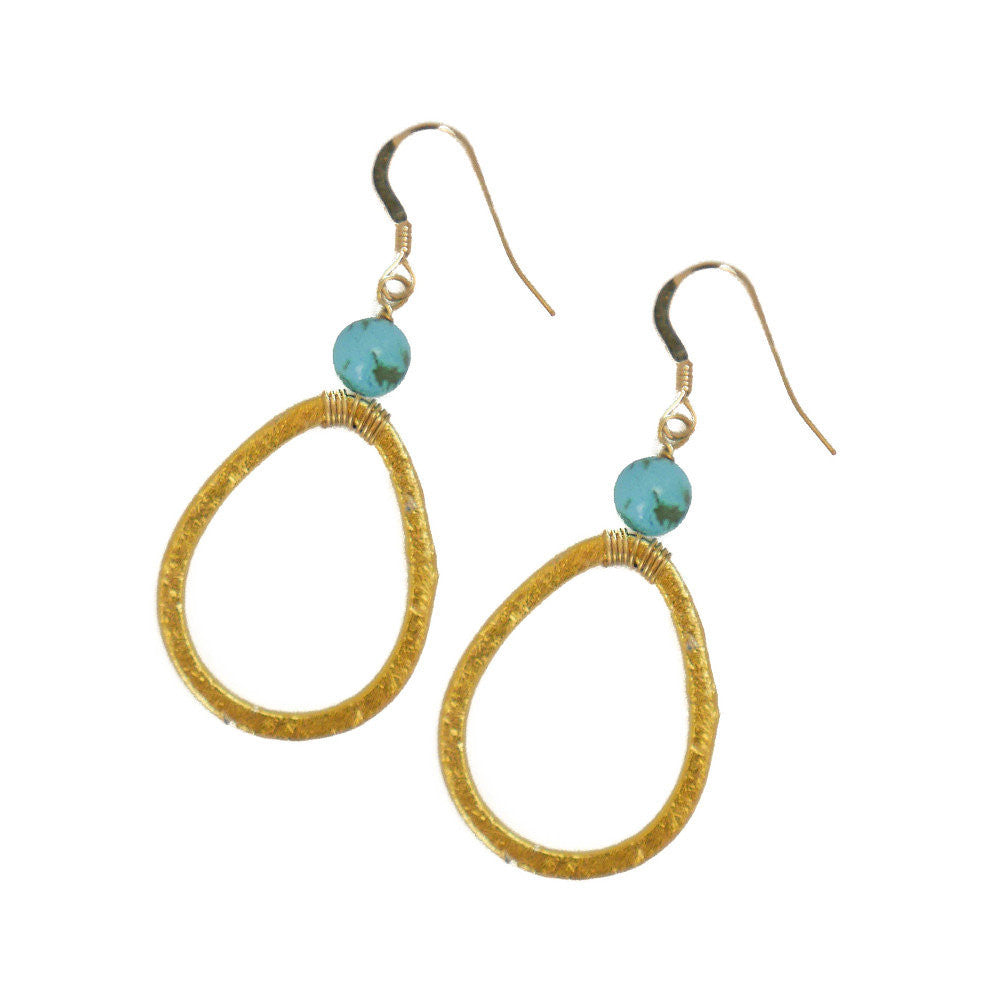 Lyssa Earring, Green Turquoise, Small