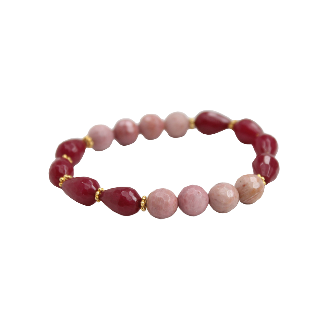 Blossom Bracelet, Mulberry and Pink