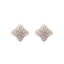 Alicia Wood Stud Earrings, Silver