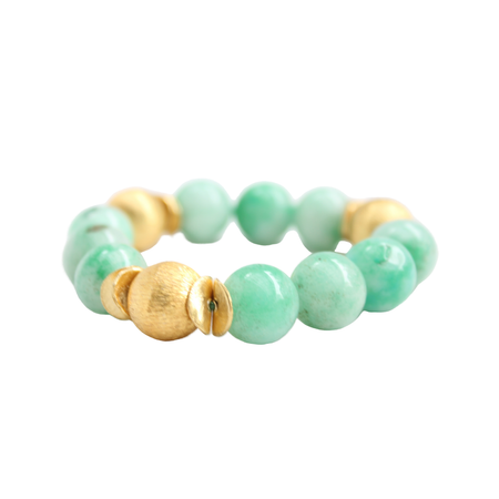 Addison Bracelet, Green Jade