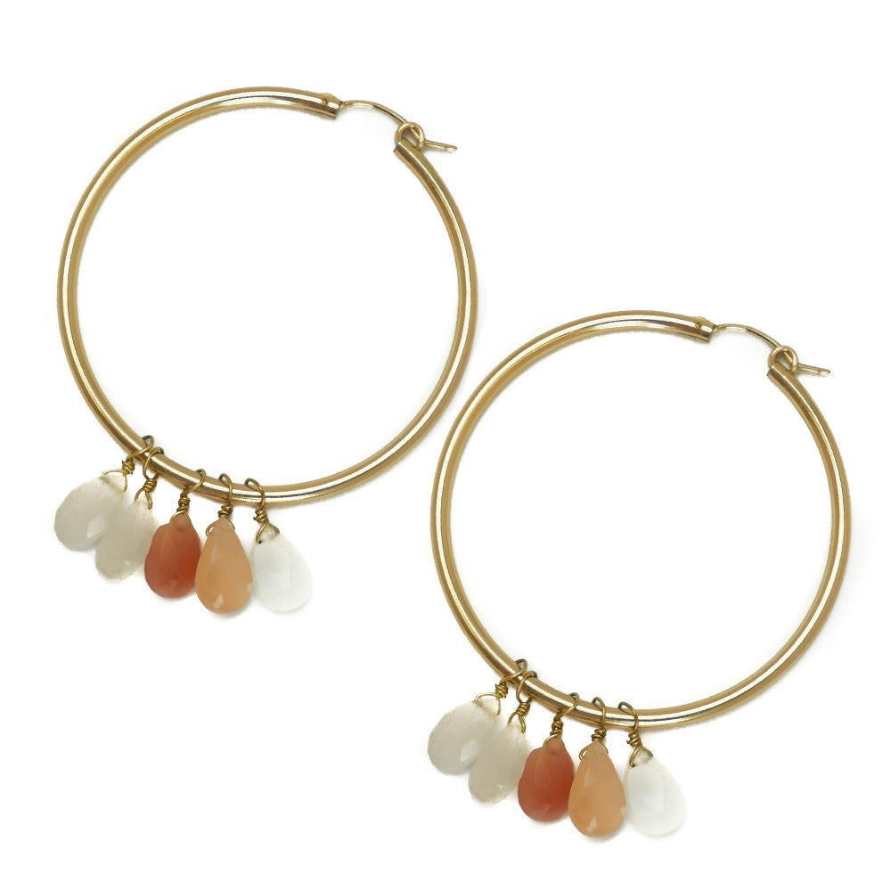 Olivia Earring, Moonstone, Large