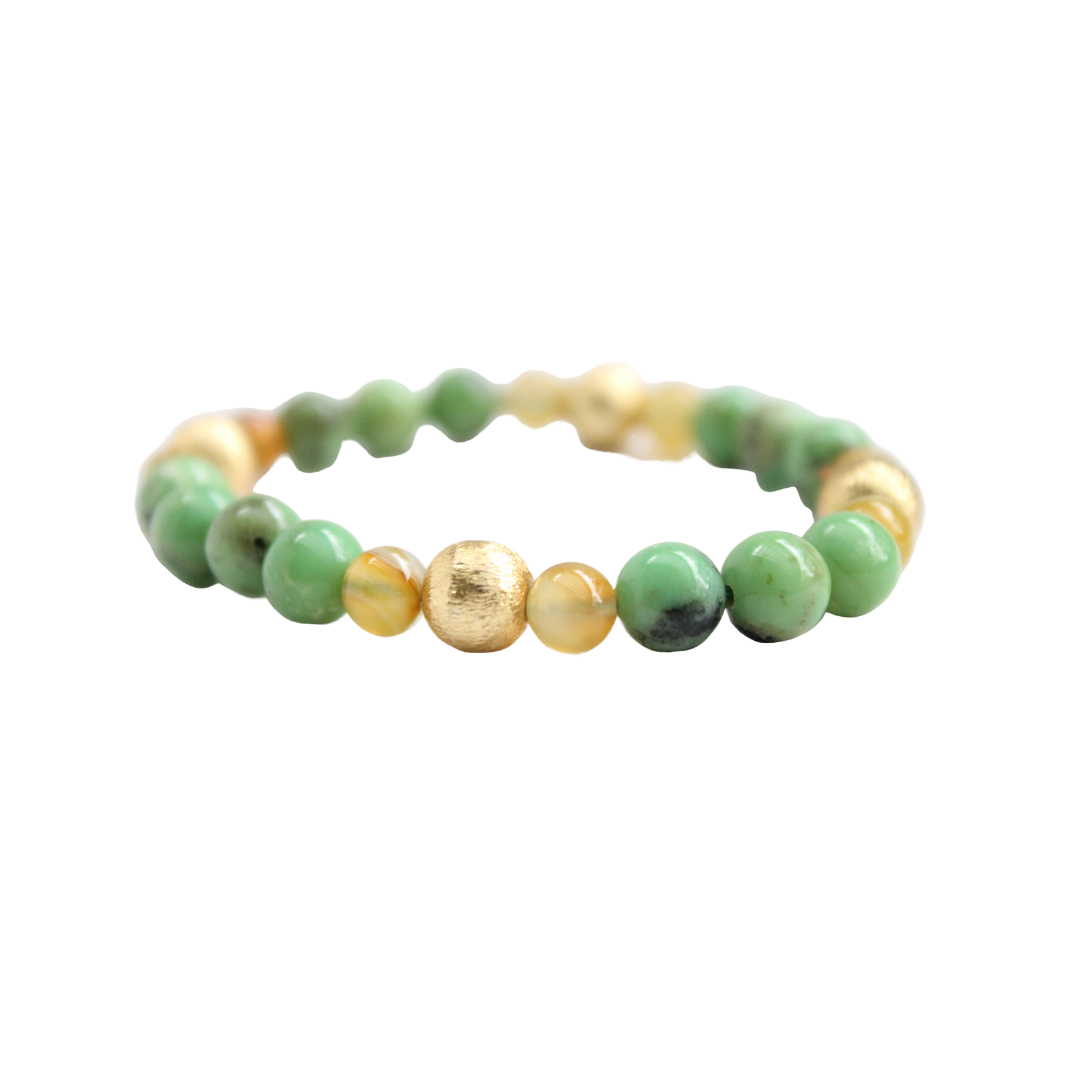 Blossom Bracelet, Green and Amber