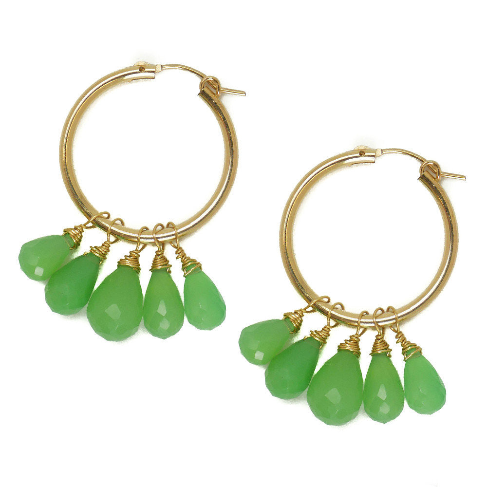 Olivia Earring, Chrysoprase, Medium