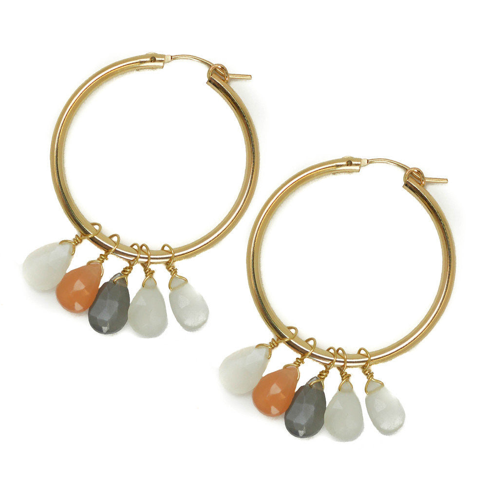 Olivia Earring, Moonstone, Medium