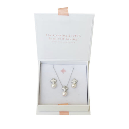 Alicia Set, Silver, Freshwater Pearl