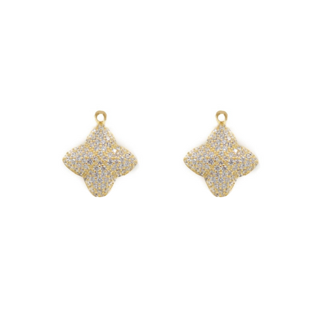 Alicia Earring Charms, Gold