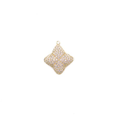 Alicia Large Pave Necklace Charm, Gold