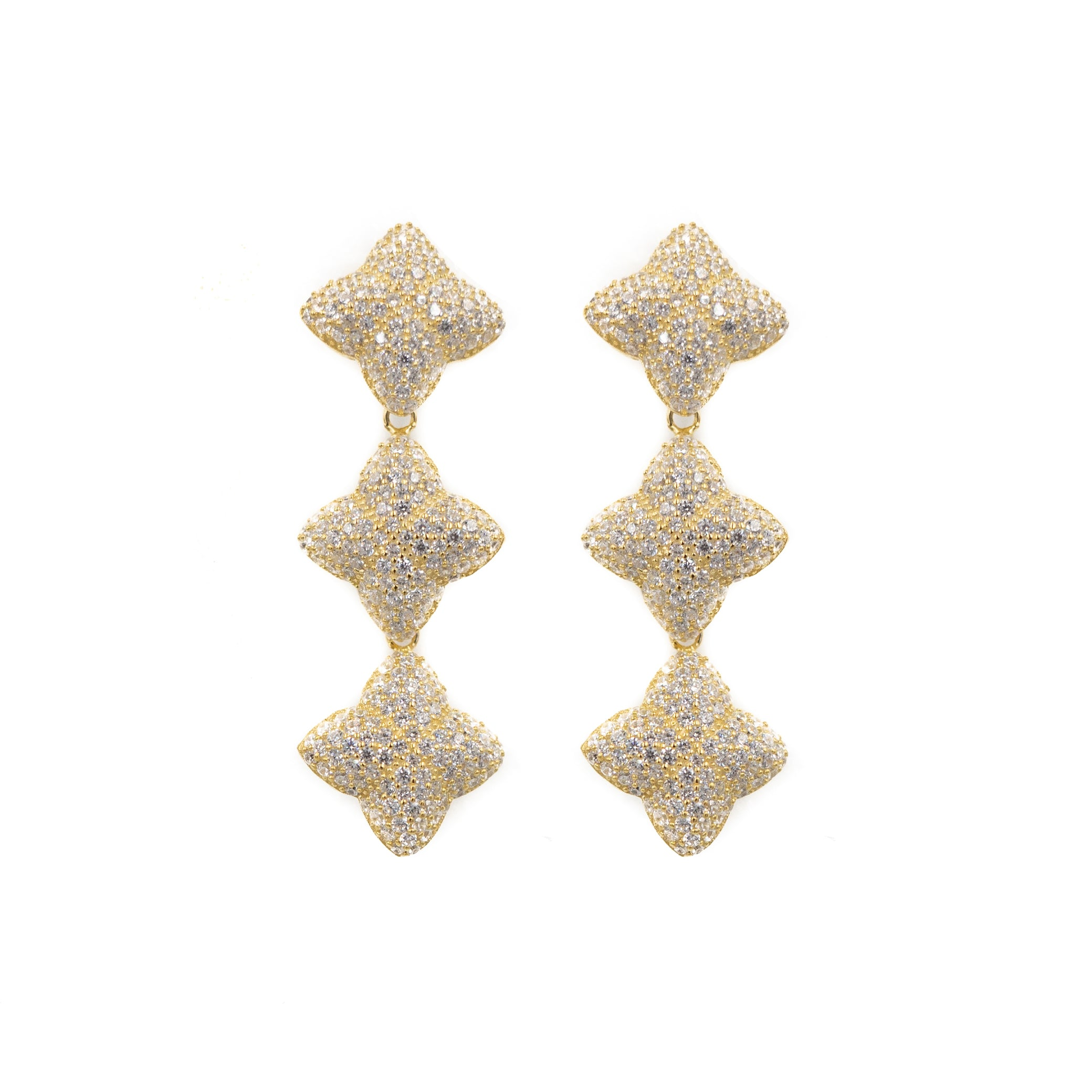Alicia Triple Earring, Gold