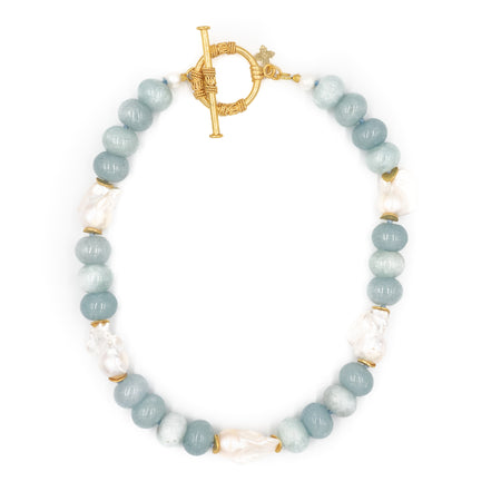 Annabelle Necklace, Aquamarine