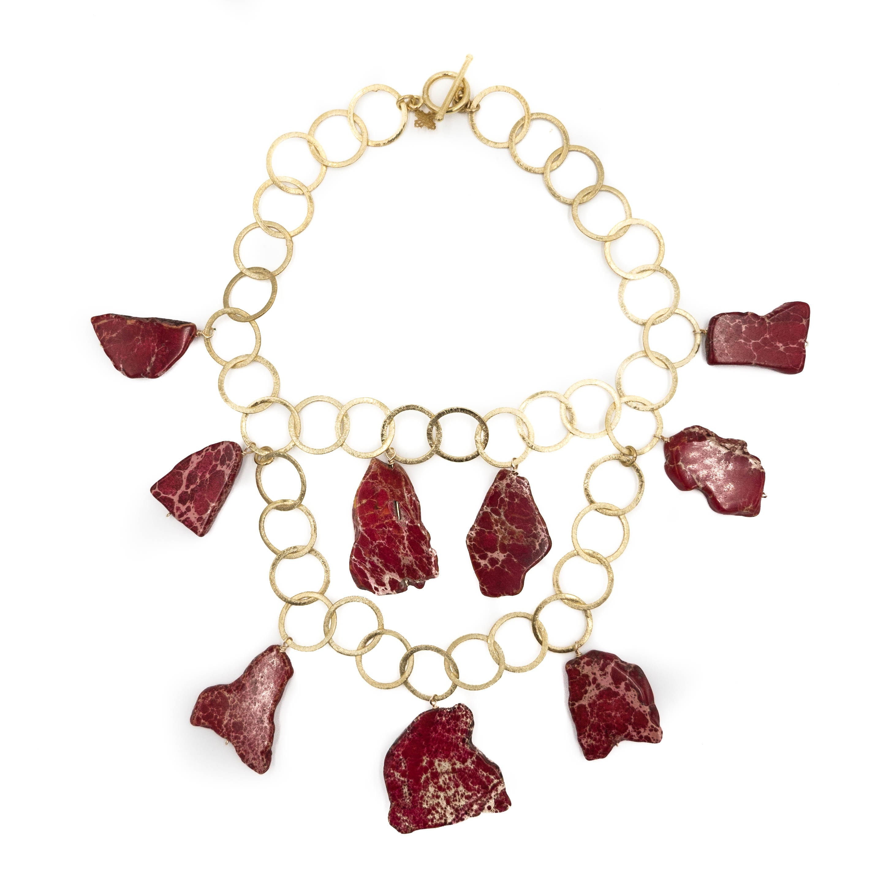 Aspen Necklace, Red Jasper