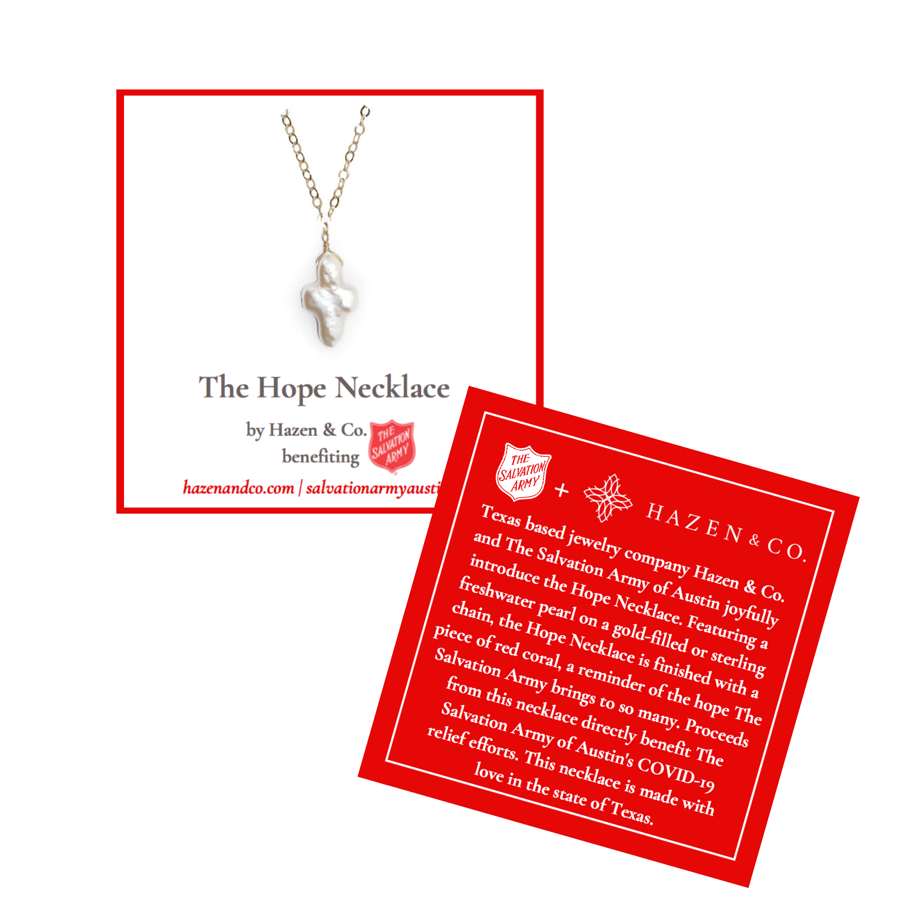 Salvation Army Hope Necklace Austin
