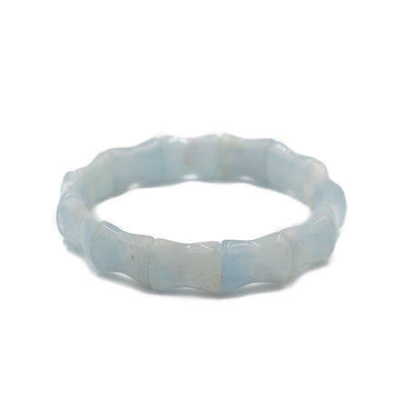 Bamboo Bangle, Aquamarine