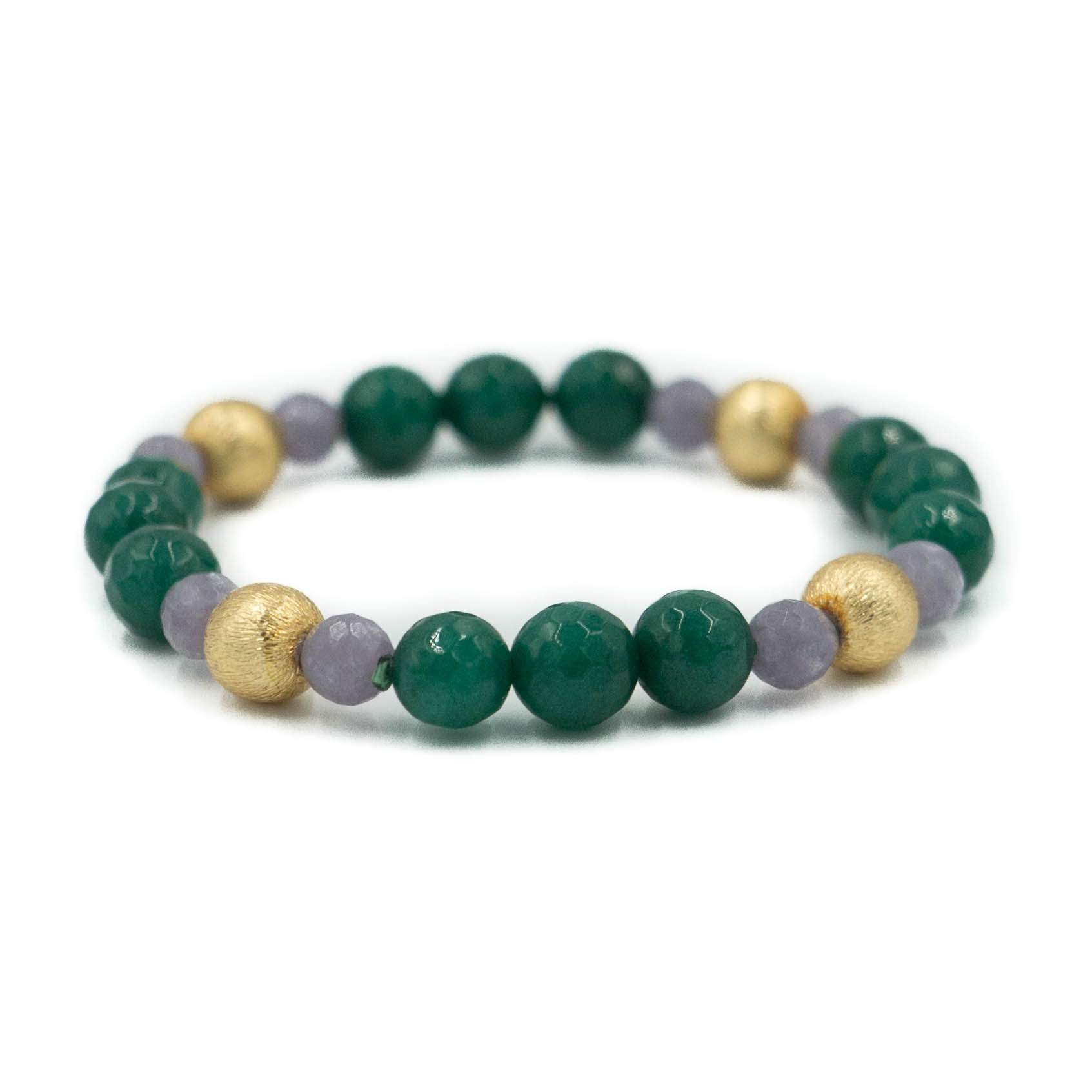 Blossom Bracelet, Emerald Green and Lavender